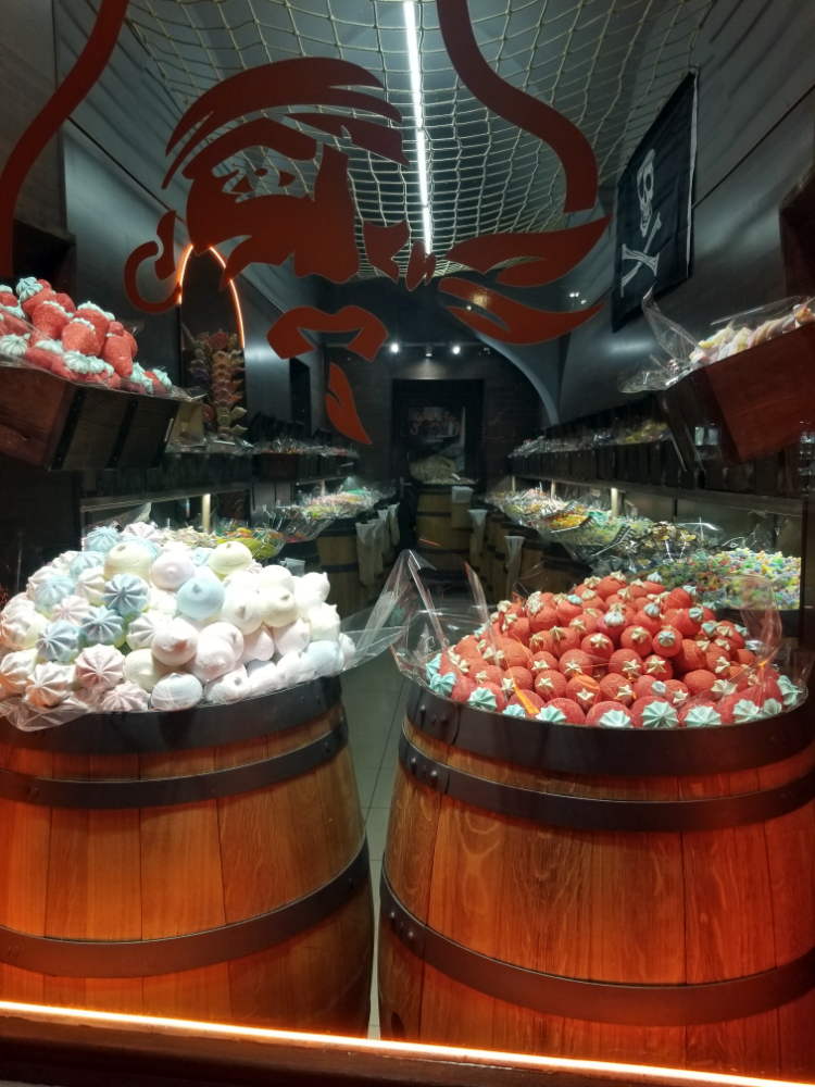 Barrels of candy in Prague