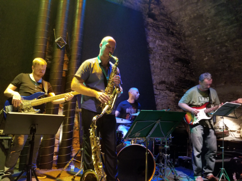 "Fusion Jazz band ""Hotline"" playing at AghaRTA"