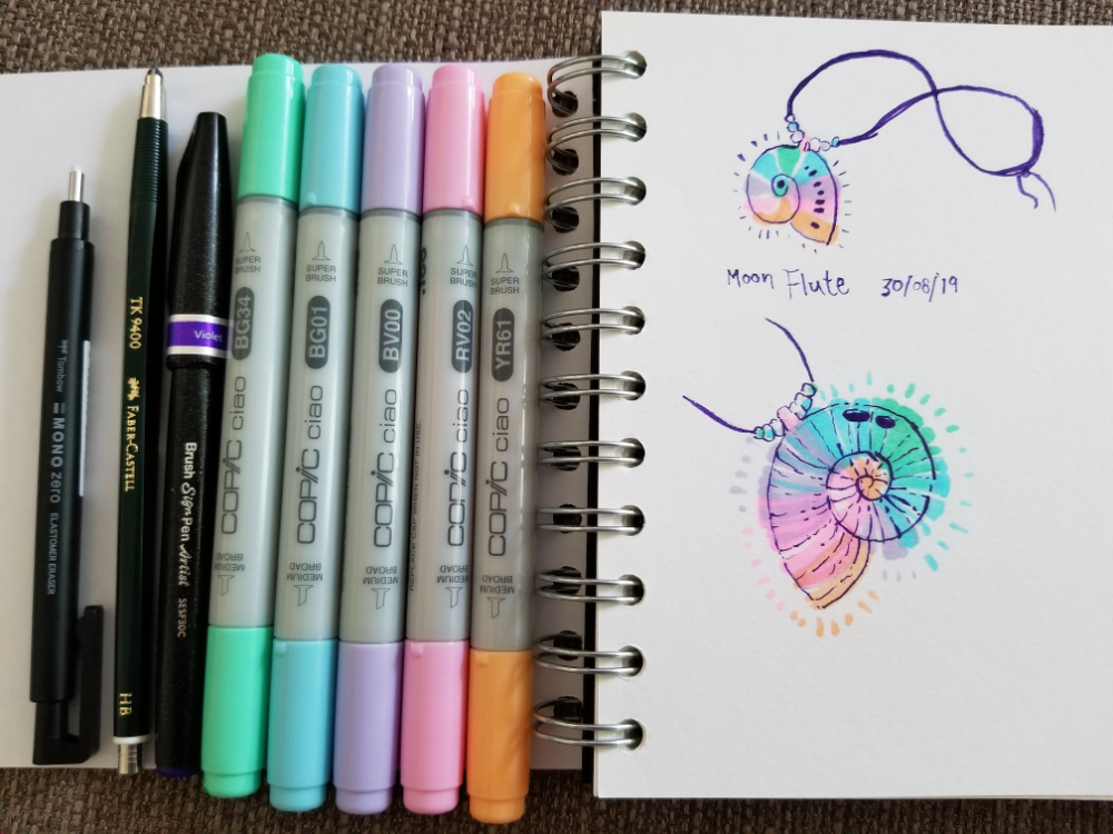 Trying out the new art supplies I bought in Berlin!
