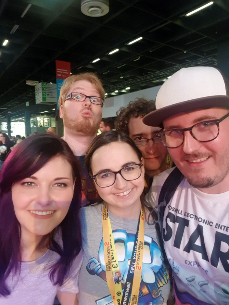 goawayimcrabby, BjoernMeansBear, sabbi_tabbi, ChrisScheidig and schottidev at Gamescom 2019